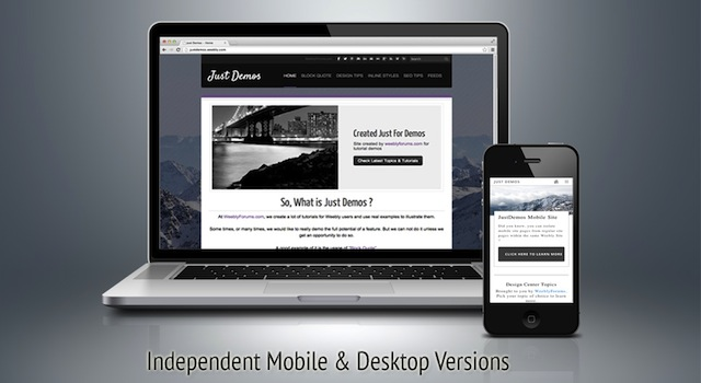 Custom Mobile Version Independent Of Desktop Version Suzdavane Na